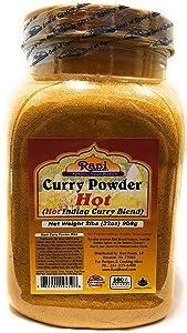 Rani Curry Powder Hot Natural 11-Spice Blend 2lbs (32oz) Bulk ~ Salt Free | Vegan | Gluten Friendly | NON-GMO