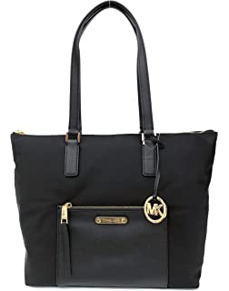 fcd8493081187 MICHAEL Michael Kors Ariana North South Large Nylon with Leather Trim Tote