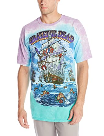 07e740ed5bb Amazon.com  Liquid Blue Men s Grateful Dead Ship Of Fools T-Shirt  Clothing