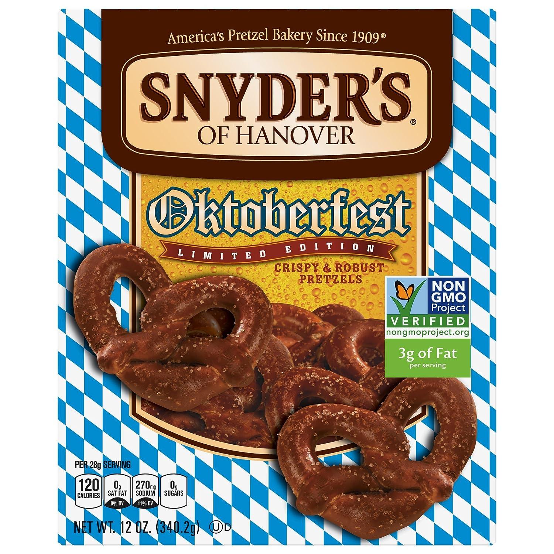 amazon com snyder s of hanover oktoberfest bavarian pretzel 12 ounce