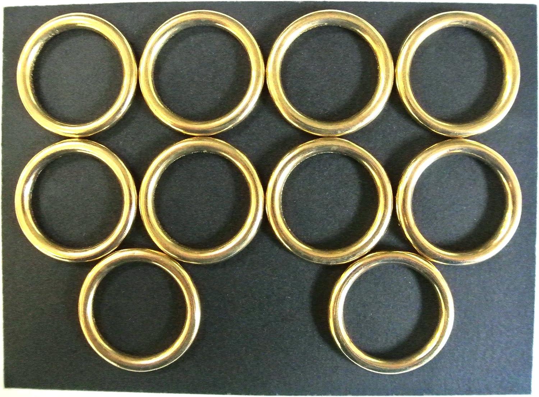 Latón sólido de 25mm Juntas tóricas X2, X5, X10ideal para correas para perros, anillas, caballo, reina, cuero, manualidades, 25 mm