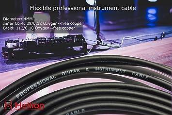 (Cable solo) para Kit de cables de conexión Hellion para bajo y guitarra,