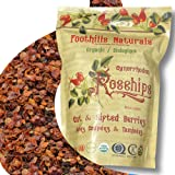 Foothills Naturals Rosehips Organic Cut Seedless - 1 Pound (454 Grams) Premium Quality