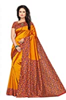 Vatsla Enterprise Women's Silk Saree With Blouse Piece(VTSLK-46_YELLOW)
