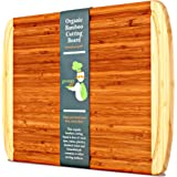 KING SIZE Organic Bamboo Cutting Board w/ LIFETIME REPLACEMENT WARRANTY - Best Extra Large Wood Chopping Board with Groove For Knives! Perfect Small Kitchen Appliance For Wedding & Housewarming Gift