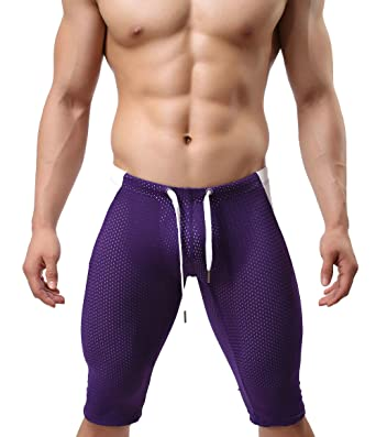 ac84937e221 MuscleMate Premium Men's Skin Tight Swim Trunks Compression Fashion Swim  Shorts Jammers Hot Swimsuit Men's Swim