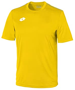Lotto Jersey Delta Camiseta de Fútbol, Hombre, Amarillo (YLW/Wht),