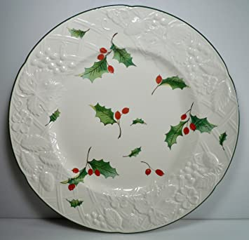 Mikasa English Countryside Seasons Holly Dinner Plate 11u0026quot; & Mikasa English Countryside Seasons Holly Dinner Plate 11