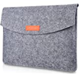 """ProCase 9.7-10.1 Inch Sleeve Case, Portable Felt Carrying Protective Bag Pouch for iPad Pro 11"""" Pro 10.5"""" 9.7"""" iPad 9.7 iPad Air 2 Air iPad 4 3 2, Surface Go 2018 and Galaxy Tab S2 S3 9.7 Inch -Grey"""