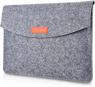 "ProCase 9.7-10.1 Inch Sleeve Case, Portable Felt Carrying Protective Bag Pouch for iPad 10.2 9.7 iPad Air 2 10.5"" Pro 11"" iPad 4 3 2, Surface Go and Galaxy Tab S2 S3, Yoga Book 10.1"" -Grey"