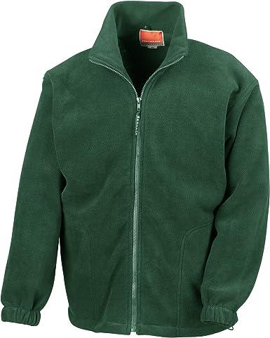 Red Kariban Mens Anti-Pill Micro Fleece Zip Up Jacket Size XL SALE RRP £23