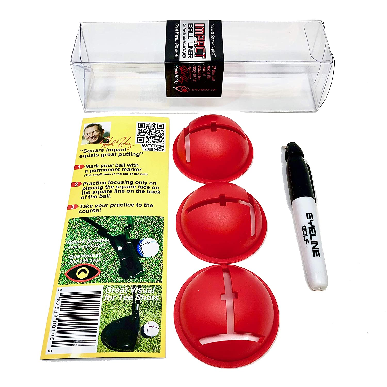Amazon.com: Eyeline Golf Ball Liner por Hank haney-pack de 3 ...