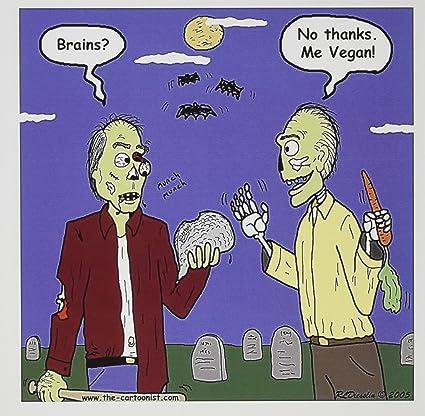 Amazon 3drose halloween zombie vegans greeting cards 6 x 3drose halloween zombie vegans greeting cards 6 x 6 set of 6 m4hsunfo