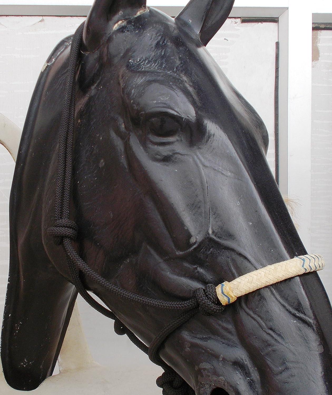 Nylon Cowboy Black Rope Halter Horse Tack Equine Nose Band Cover Free Shipping