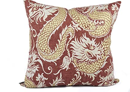Amazon.com: CELYCASY Funda de almohada de dragón inspirada ...