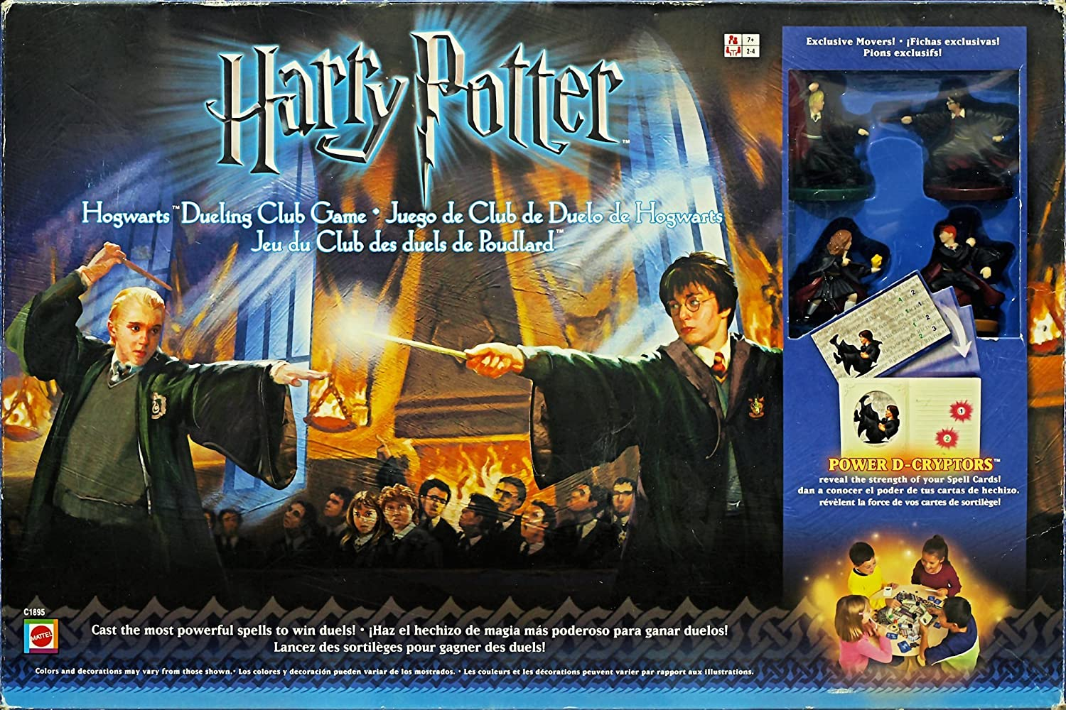 Amazon.com: Harry Potter Hogwarts Dueling Club Game: Toys ...