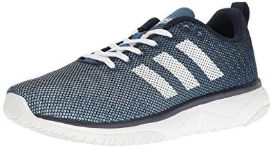 16b2ffed41 adidas Men's Cloudfoam Super Flex Running Shoe Navy/White/Blue 7.5 D -  Medium