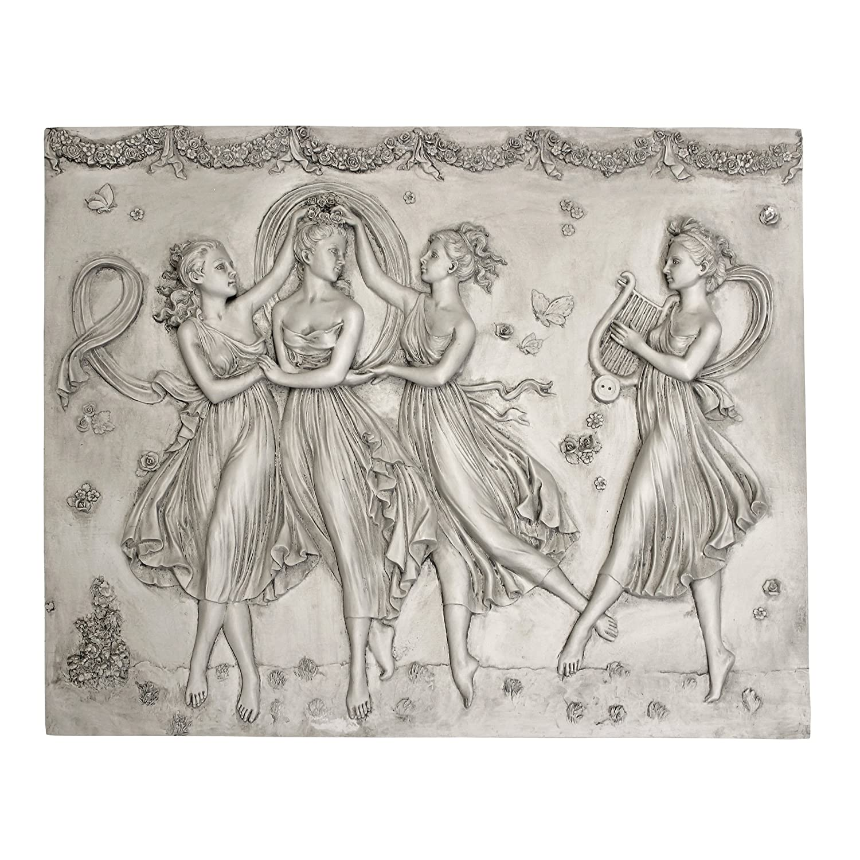Design Toscano Three Graces Dancing Wall Sculpture