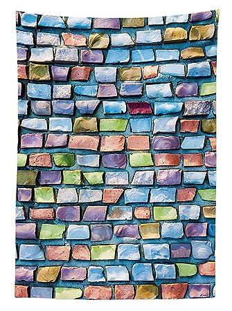 Yeuss Geometrische Tischdecke Outdoor Bunt Mosaik Fliesen Muster