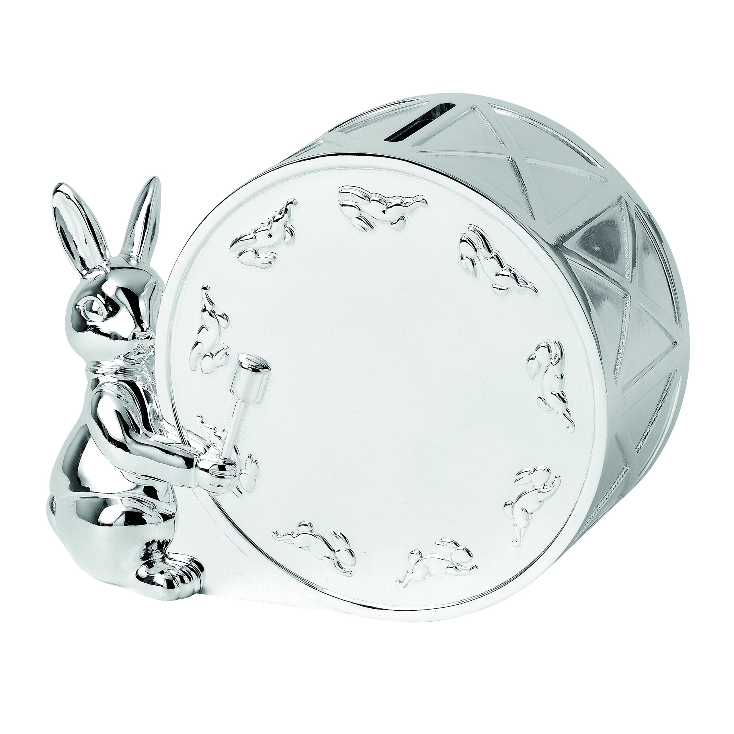 Royal Doulton Bunnykins Money Box, Silver by Royal Doulton