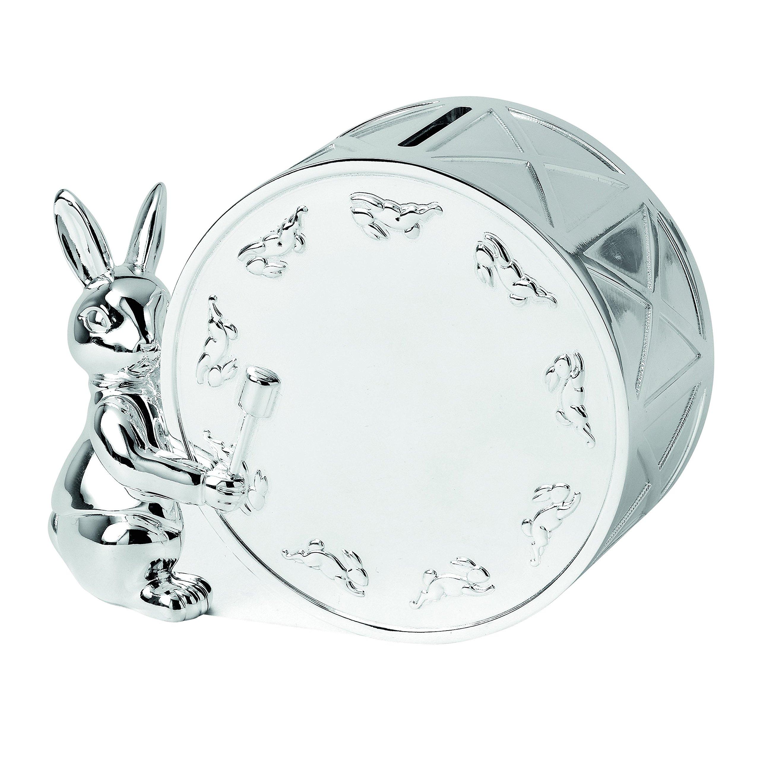 Royal Doulton Bunnykins Money Box, Silver