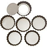 Webake 4 Inch Quiche Pans Removable Bottom Mini Tart Pans Set of 6