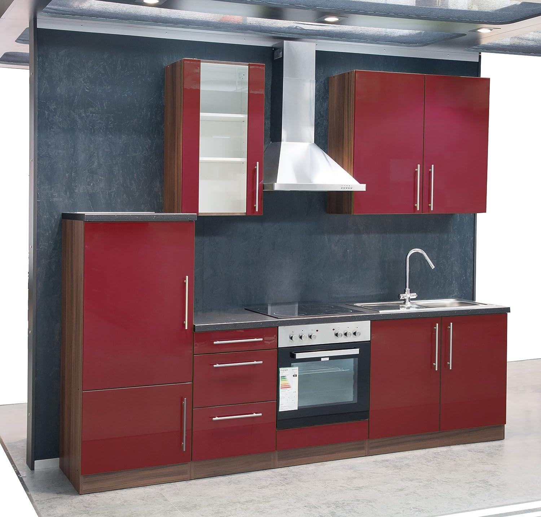 Mebasa MCUKB27NR Küche, Moderne Küchenzeile, hochwertige ... | {Hochwertige küchen günstig 35}