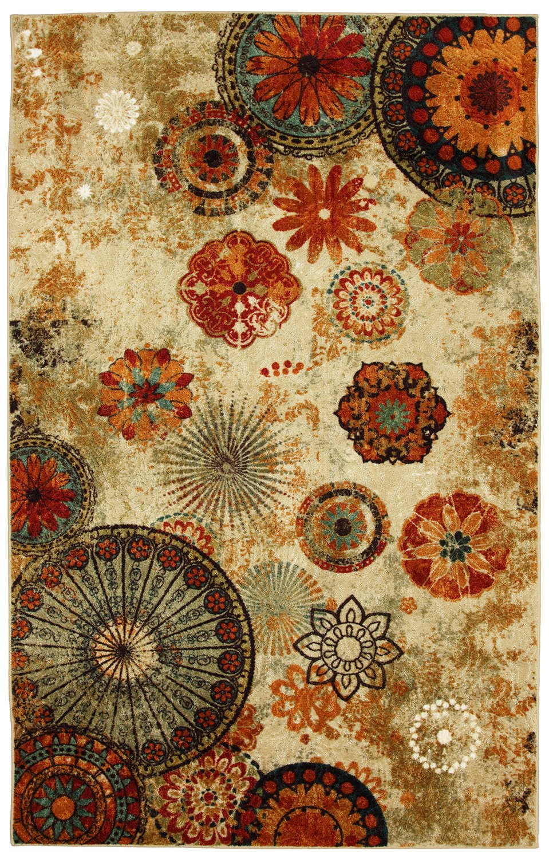 "Mohawk Home Strata Caravan Medallion Floral Printed Area Rug, 2' 6"" x 3' 10"", Multicolor"