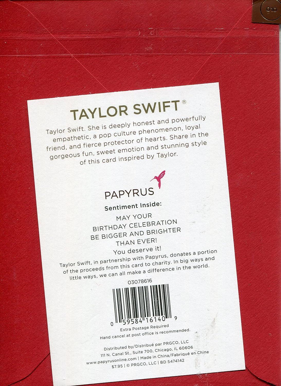Amazon papyrus greeting birthday card taylor swift may your amazon papyrus greeting birthday card taylor swift may your birthday celebration be bigger health personal care m4hsunfo