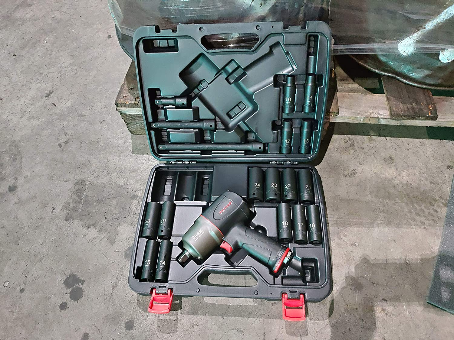 mm size sockets TZTool 1200 All new Diesel 1//2 Air Impact wrench kit