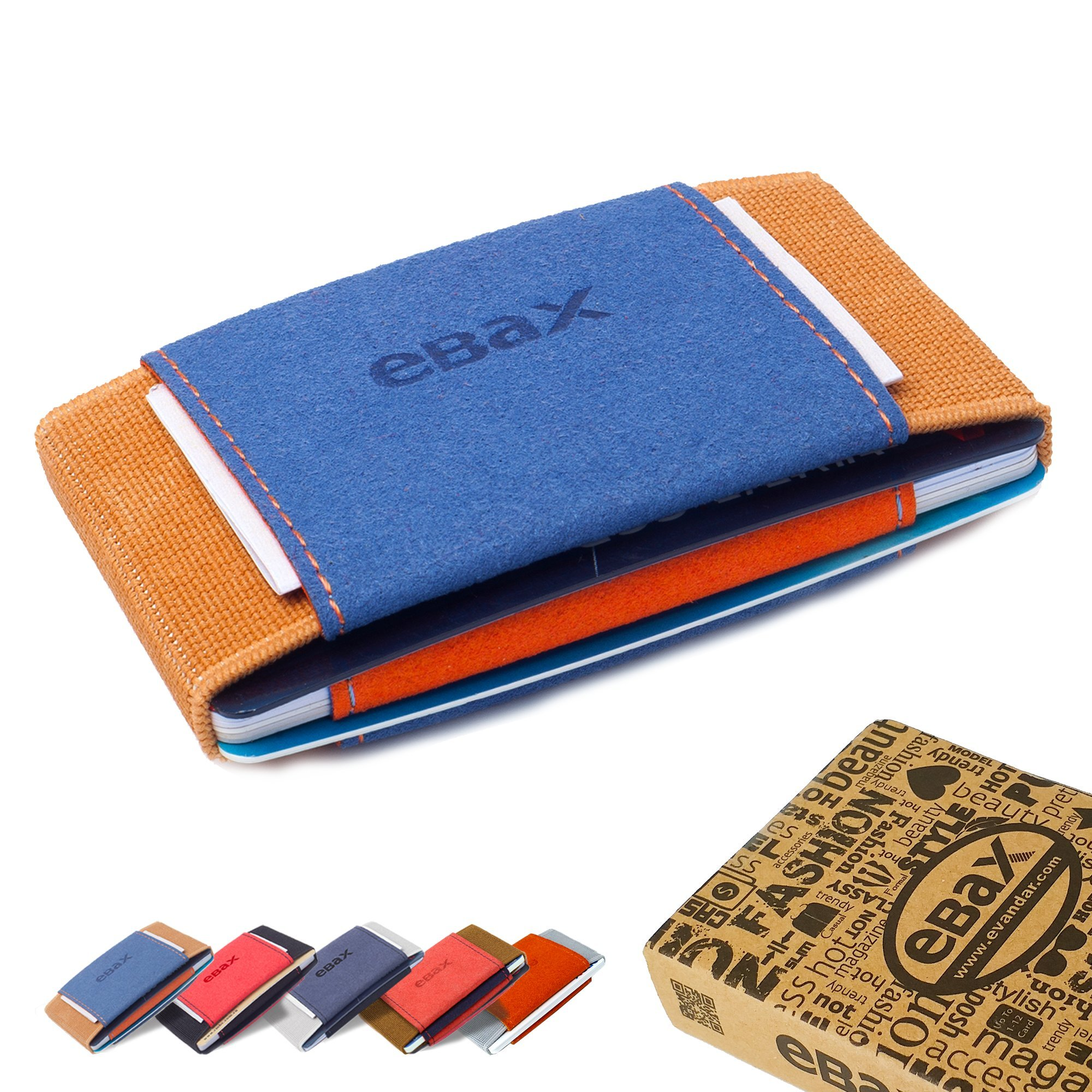 Ebax Minimalist Slim Wallet For Men Women Elastic Front Pocket Credit Card