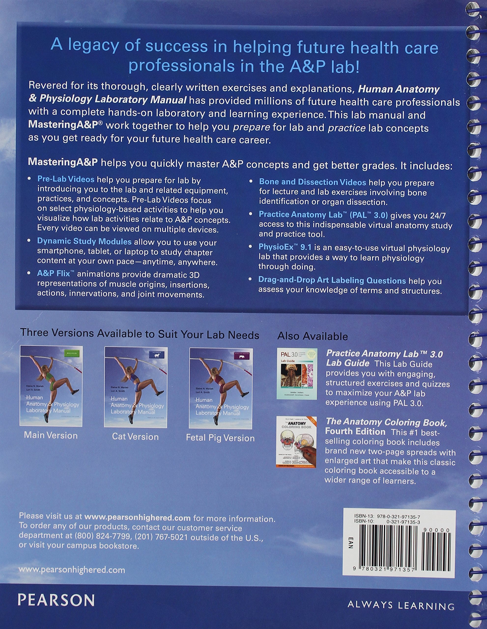 Human Anatomy & Physiology Laboratory Manual, Cat Version; Modified ...