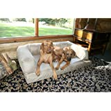 XXL Dog Bed Orthopedic Foam Sofa Couch Extra Large Size Great Dane - Microsuede Tan/Cream by Hidden Valley