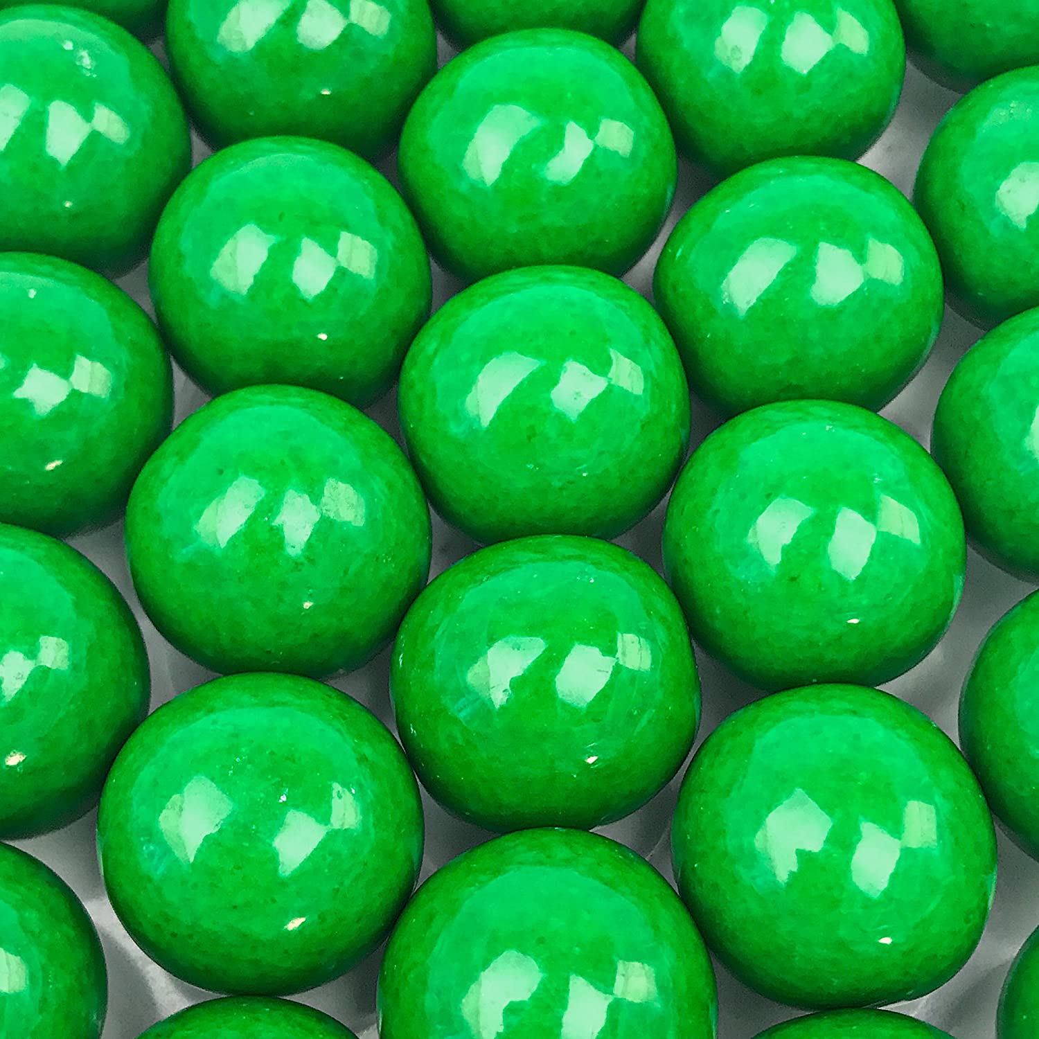 Green Gumballs - 2 Pound Bags - Large - One Inch in Diameter