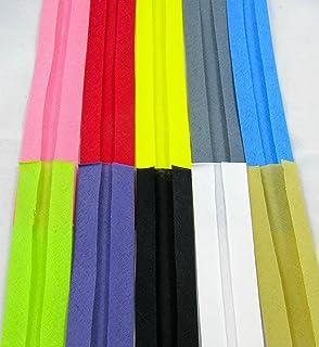 KRAFTZ® Cotton Bias Binding Tape 15MM x 25M Green for Sewing Bunting and Craft