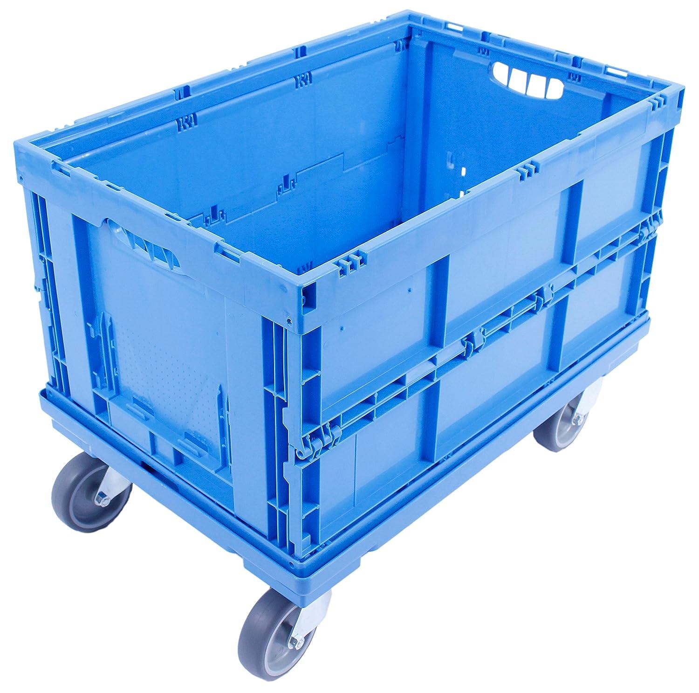 GEMÜ SEKISTE 34 LITER, stabile Klappbox, Made in Germany, 60x40x18 cm, Transportkiste, Gemü sebox, optimale Belü ftung von Obst & Gemü se, Grü n DieKlappbox