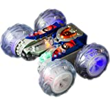 Haktoys HAK104 Stunt Master - Acrobatic Extreme 360° Tumbling & Spinning Action Racer Rechargeable RC Car with Colorful Lights - Colors May Vary