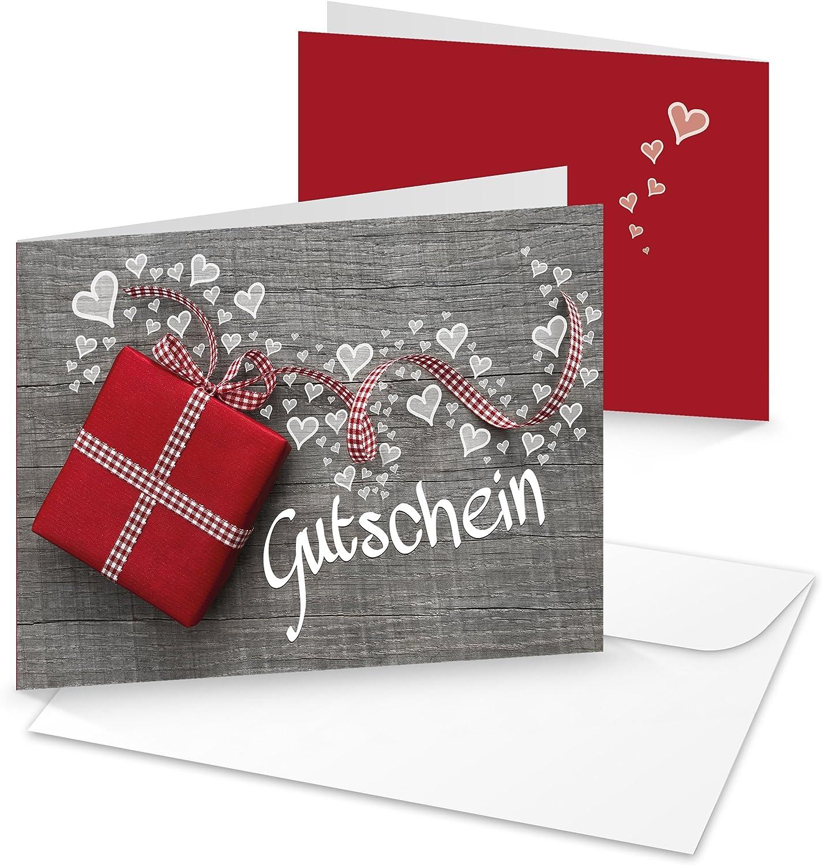 100unidades Bonos con corazones rojos; regalo Bonos o la compra Bonos para clientes o Amigos de cumpleaños, bodas, San Valentín, el día de la Madre o Navidad