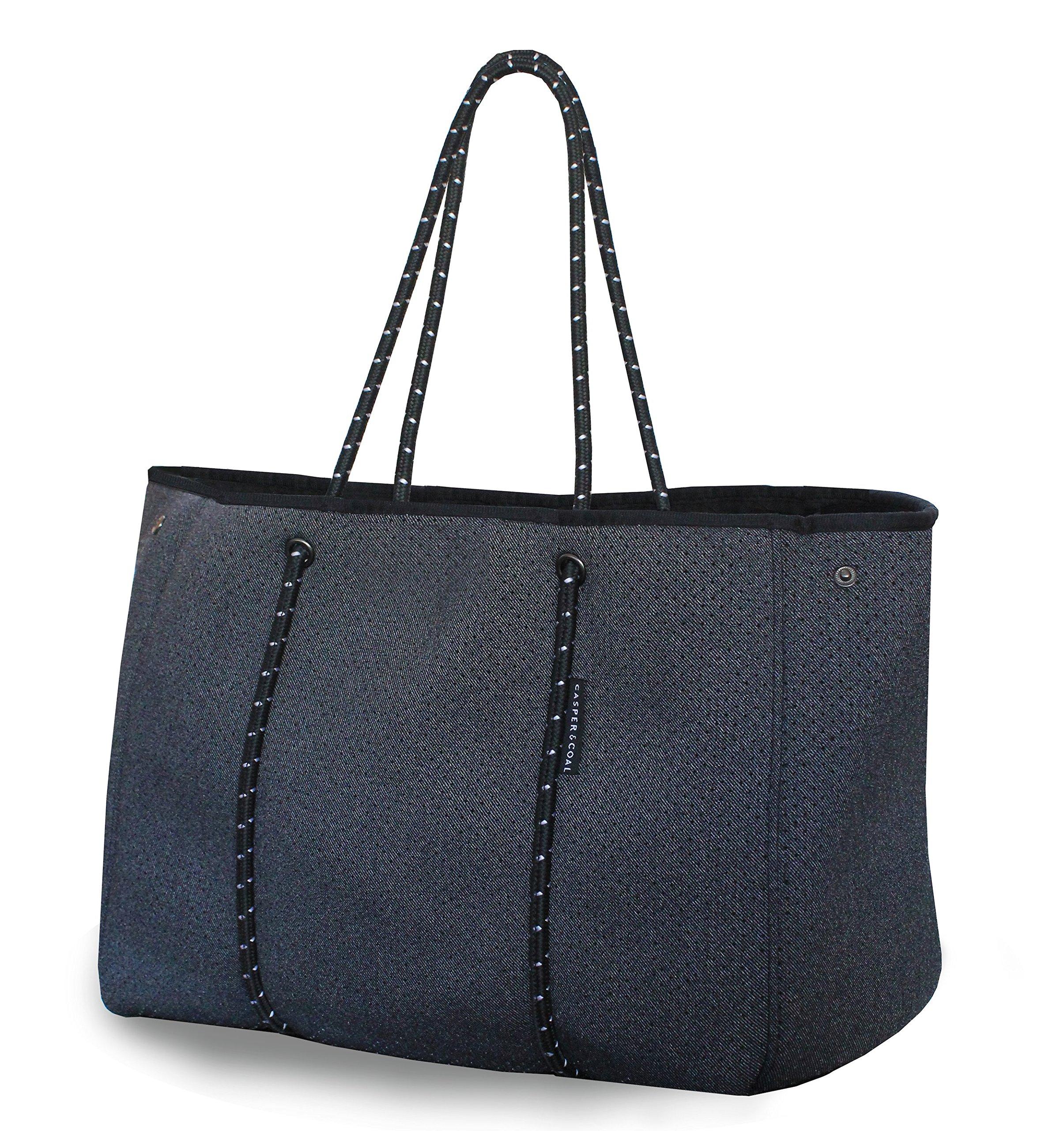 Casper & Coal Multipurpose Tote Beach Bag with Neoprene Exterior/Charcoal