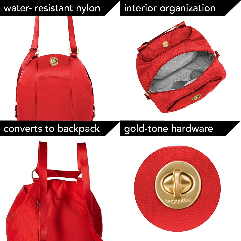 Baggallini Women s Gold International Mendoza Backpack Black