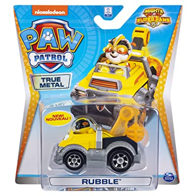 Paw Patrol Rubble's Tow Truck Mighty Pups Diecast Car 1:55 Scale: Toys & Games