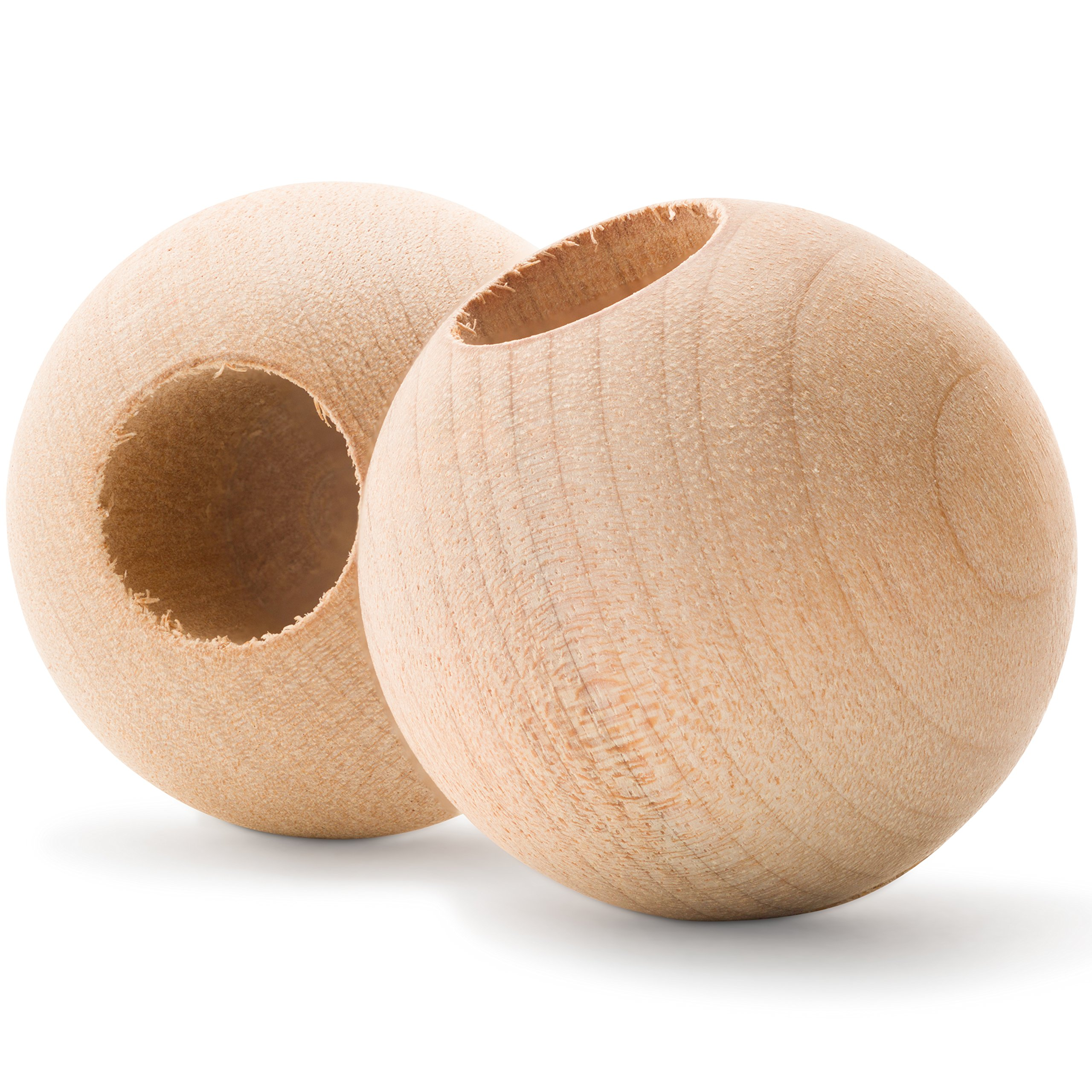 Wood Dowel Caps - 1'' Diameter With 3/8'' hole - Dowel Rod Caps For 3/8 Inch Dowel Rods - For Crafts and DIY'ers - Pack of 250 - Woodpeckers Crafts