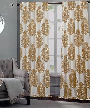 Amazon.com: Tahari Window Panels Draperies Curtains Set of 2 Gold ...