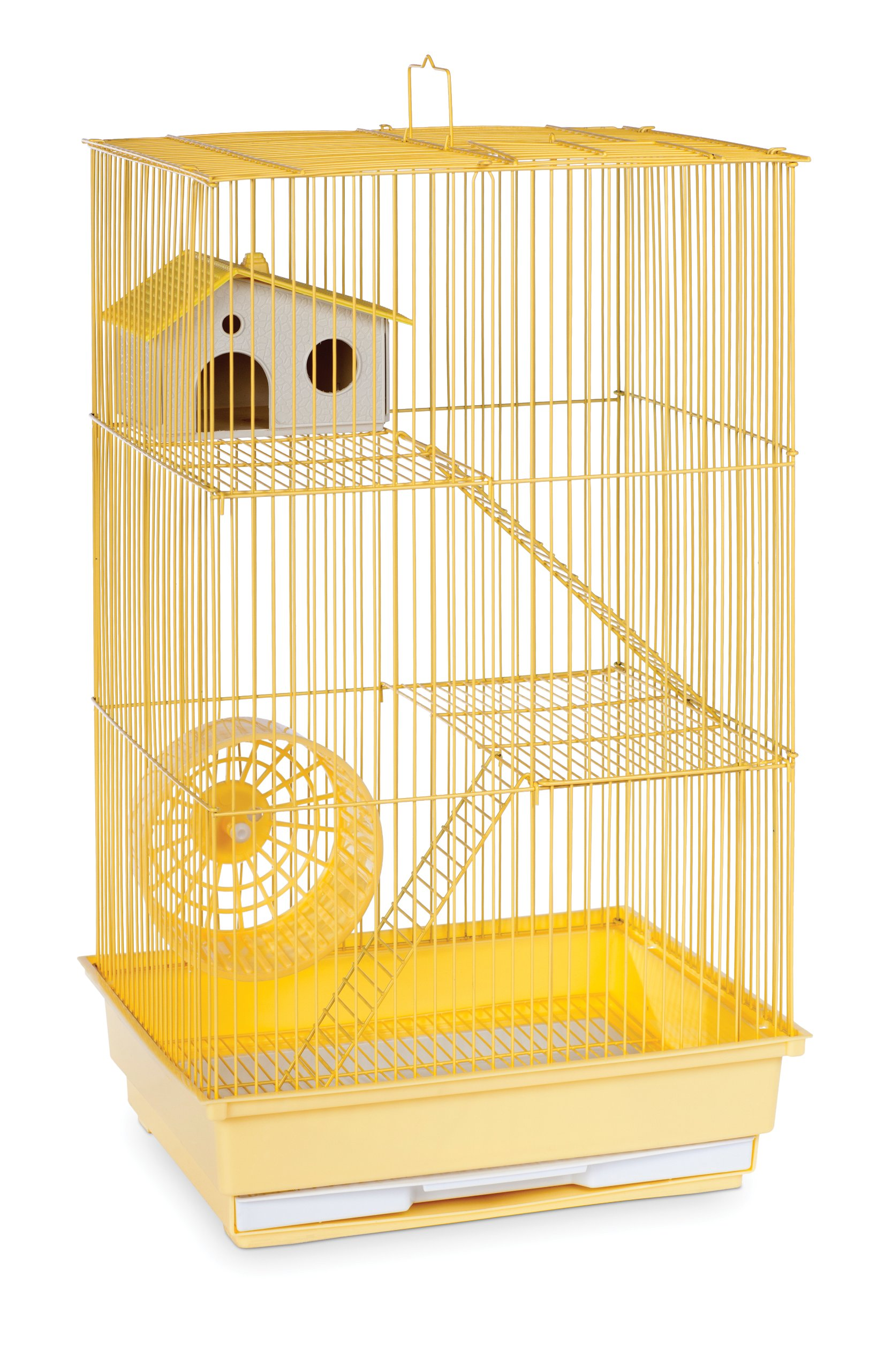 Prevue Hendryx SP2030Y Three Story Hamster and Gerbil Cage, Yellow