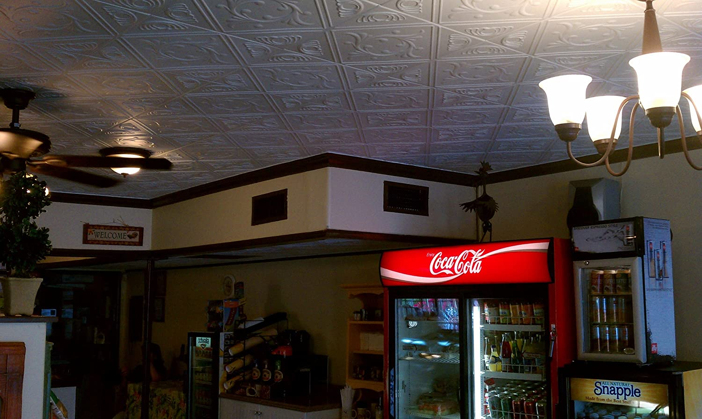 White Styrofoam Ceiling Glue up Application Image 2