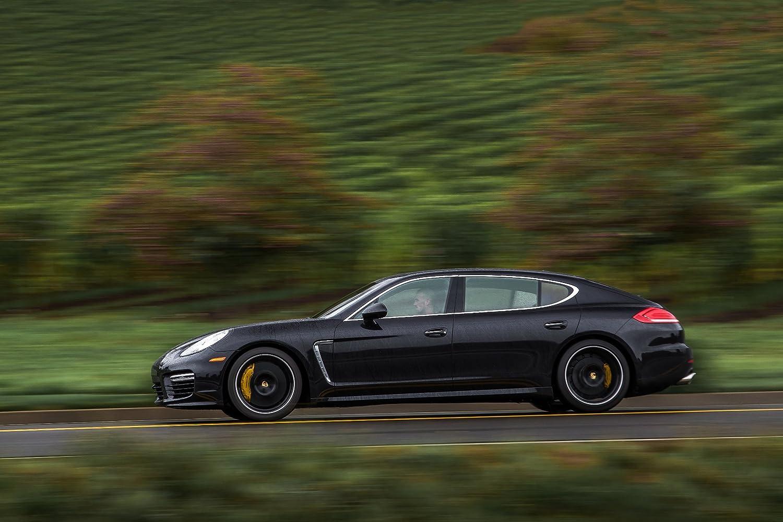 Clásico y músculo anuncios de coche y COCHE arte Porsche Panamera Turbo Executive (2014) coche Póster en 10 mil Archival papel satinado negro movimiento ...
