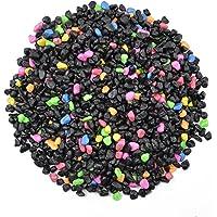 CNZ Aquarium Gravel Black & Flourescent Mix for Plant Aquariums, Landscaping, Home Decor, 0.25
