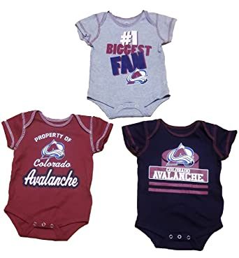 competitive price 0bf18 78e4c Amazon.com: Colorado Avalanche Newborn Team Color Alternate ...