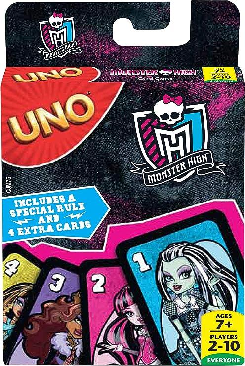 Monster High - UNO, Juego de Mesa (Mattel CJM75): Amazon.es ...