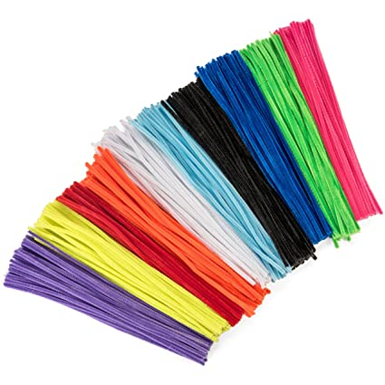 amazon com 500 pack craft pipe cleaners assorted chenille stems